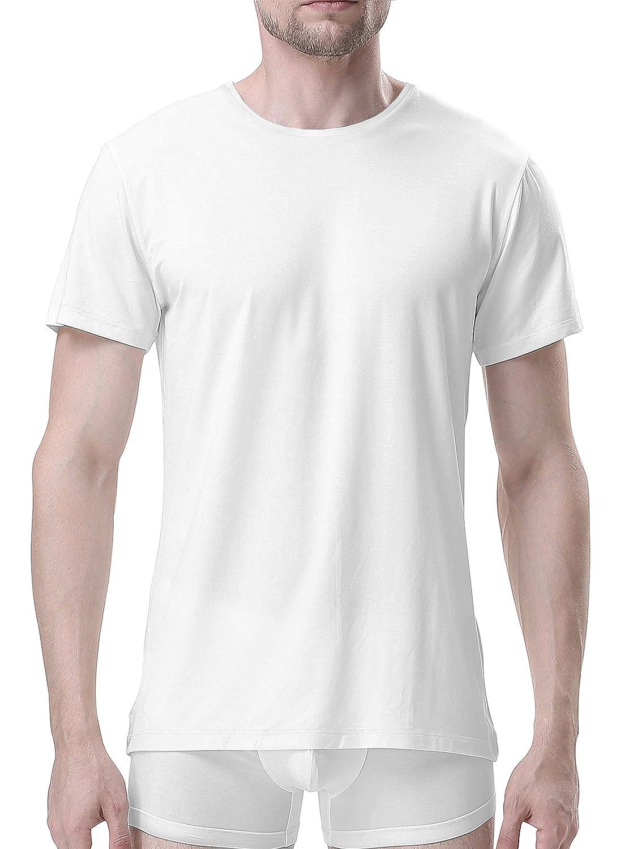 Genuwin 3 Pack Camisetas Hombre Manga Corta de Cuello Redondo con Tratamiento Antiolor, Camisetas Hombre Originales, Súper Suave
