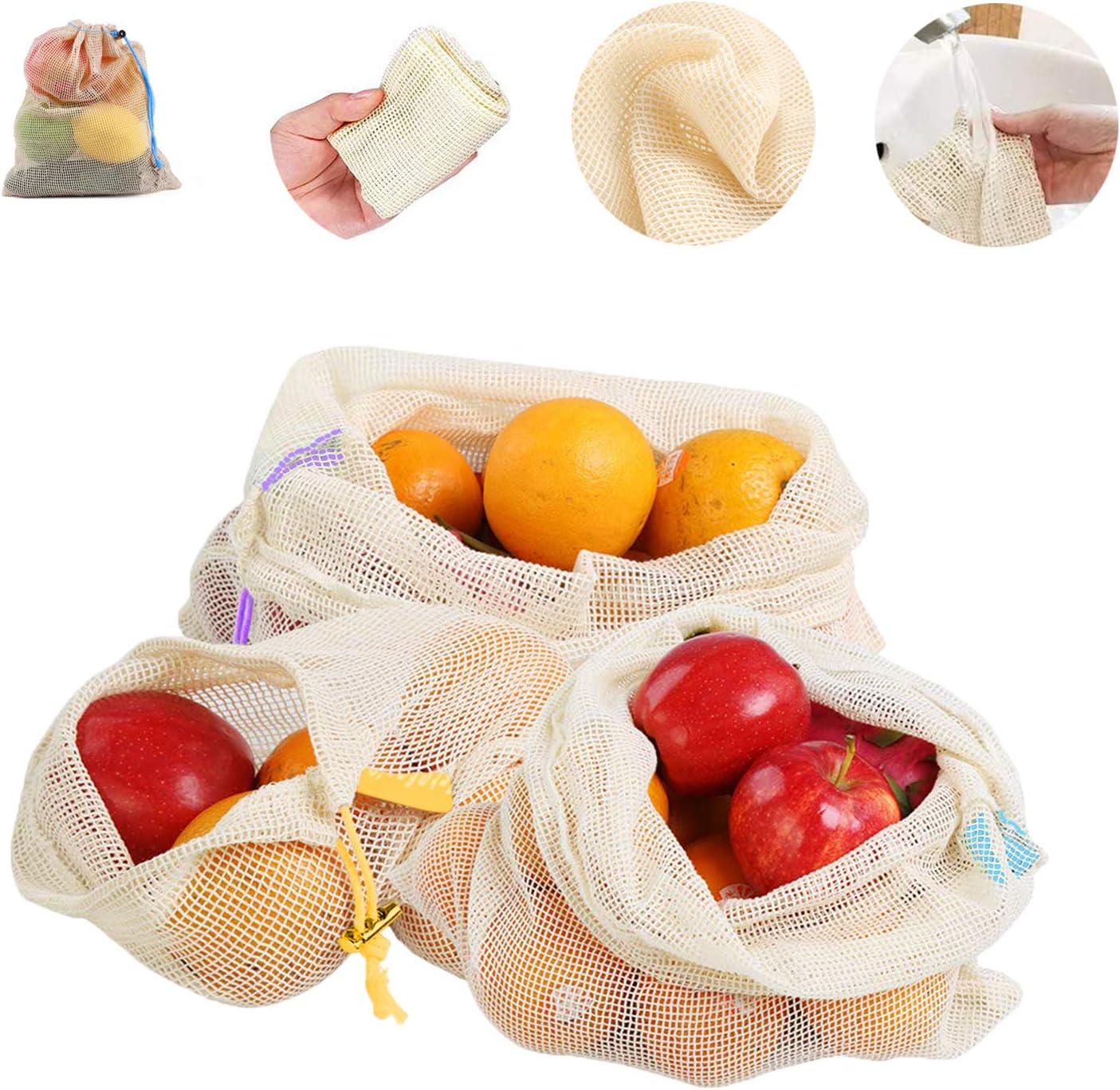 12 bolsas reutilizables de malla para productos de alimentos ...
