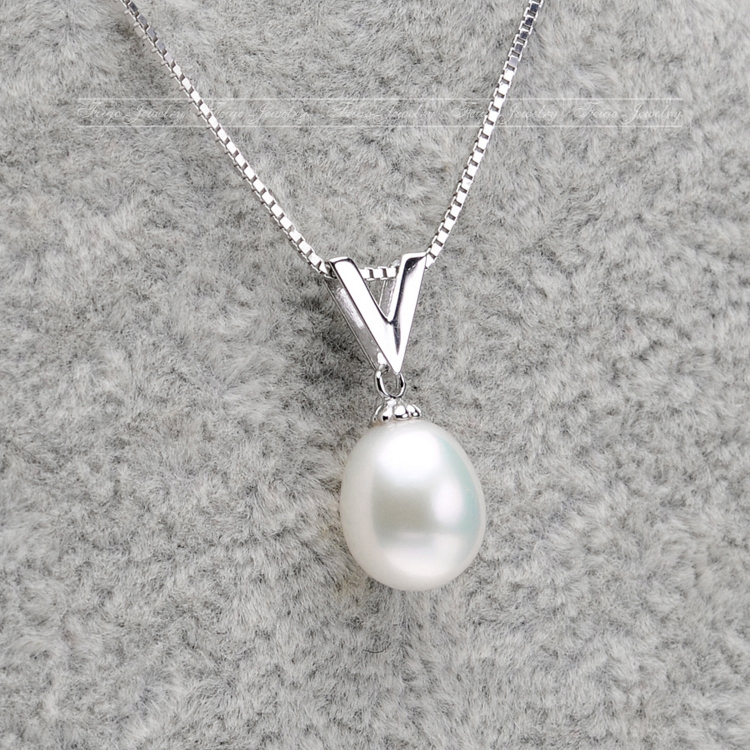 MMC Victory Chain Pearl Silver Pendants Necklaces