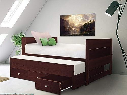 Bedz King BK551-Dark-Cherry Bunk Bed