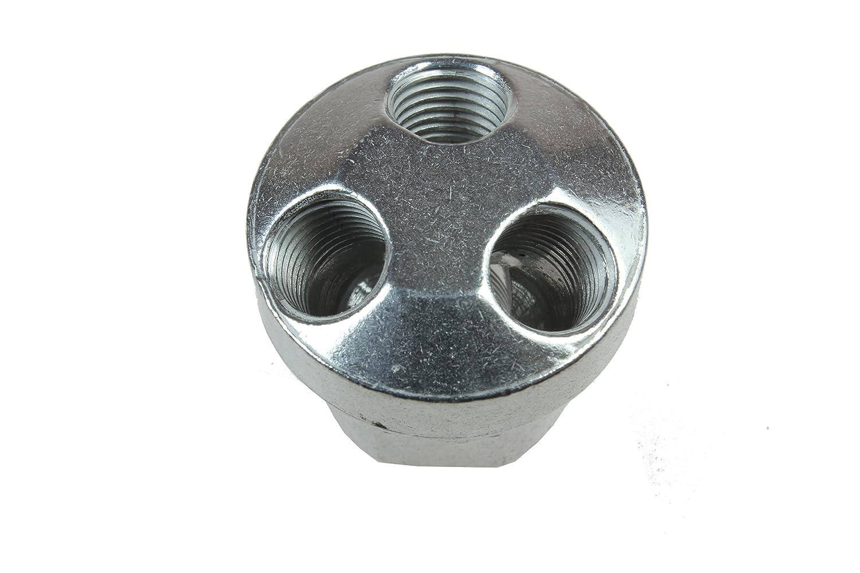 3//8-Inch FPT Supply Port Three 1//4-Inch FPT Output Ports Coilhose Pneumatics 3003 Tri-Pod Manifold