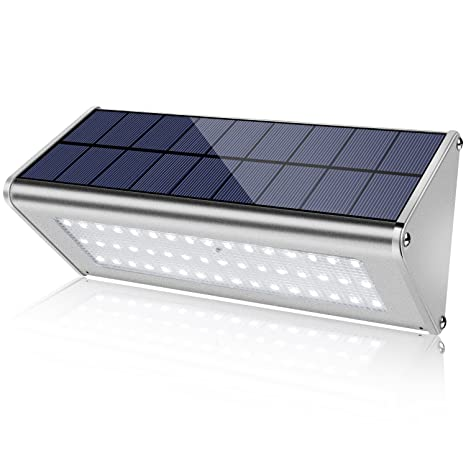 save off 727ac 20e80 Super Bright 48 LED 1100 Lumens Max Wireless Water Proof Solar Lights  Outdoor Radar Motion Sensor Light Aluminum Housing for Outdoor Security  Yard ...