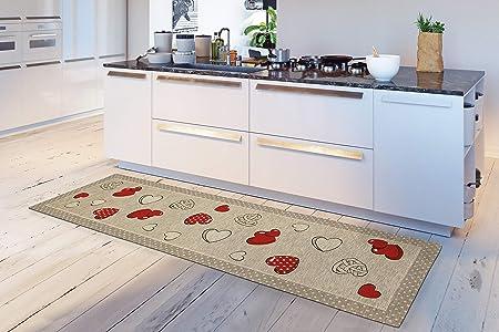 Cottonhouse Tappeto Cucina In Morbida Ciniglia Valentine Cuori Shabby Con Fondo Antiscivolo Made In Italy Latte Miele 57x85 Cm Amazon It Casa E Cucina