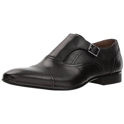 ALDO Men's PALIA Monk-Strap Loafer, Black Leather, 9- D US: Shoes