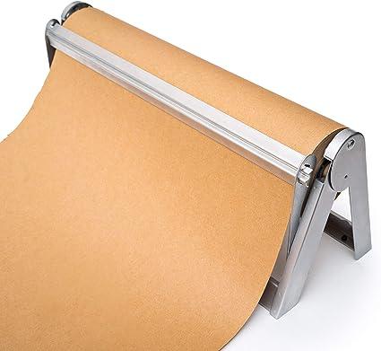 Cortador de rollo de papel de regalo, soporte y dispensador para ...