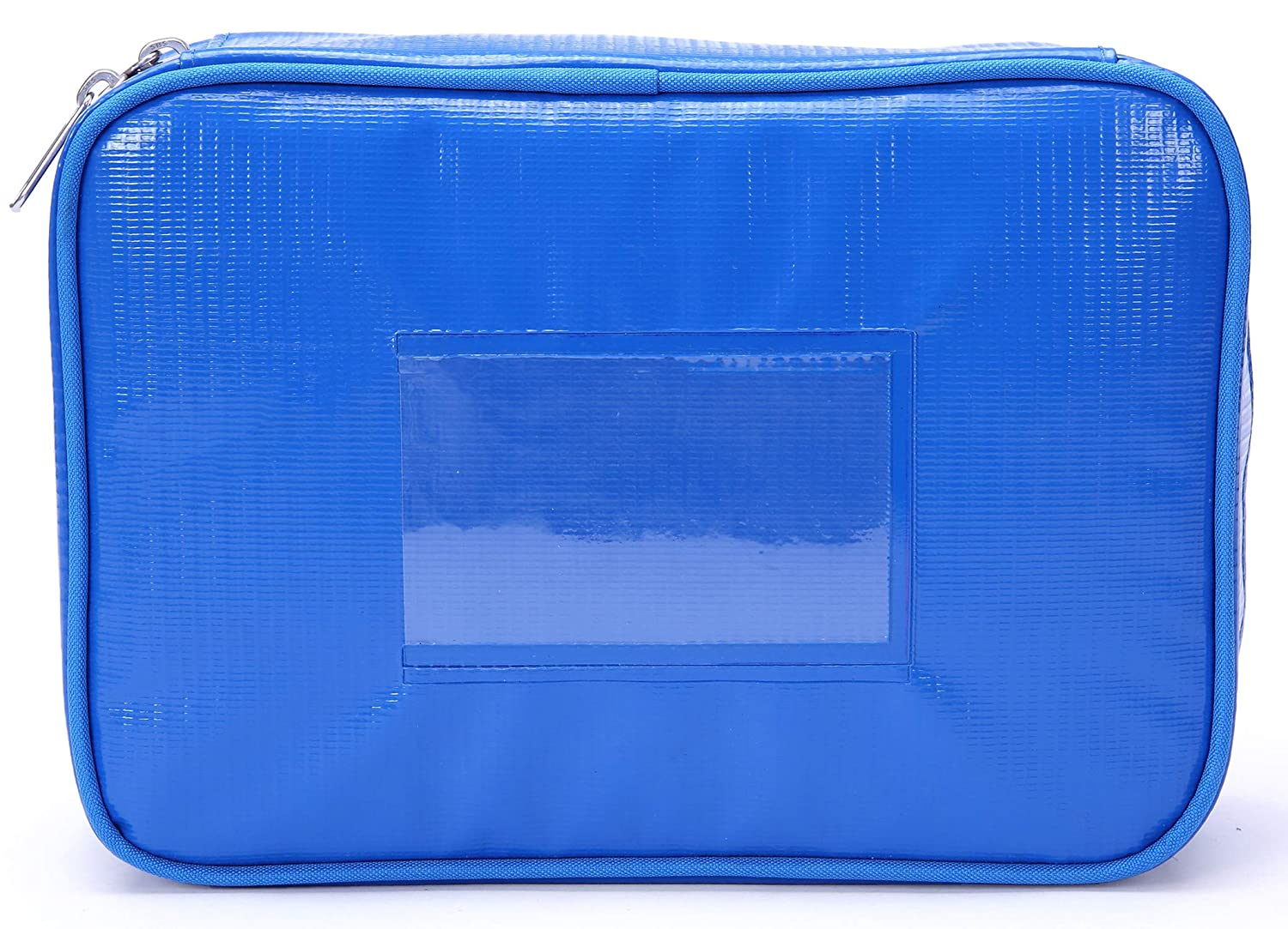MIER Waterproof Small Medical Bag First Aid Empty Bags Emergency Kit Medical Organiser Storage Pouch for Home, Office, Travel, School, Bag Only(Blue)