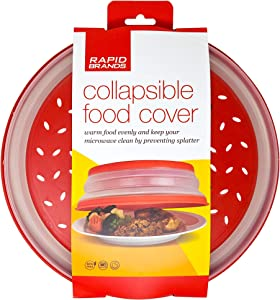 Rapid Brands Collapsible Microwave Splatter Cover | Vented Reusable Food Cover | Home, Dorm, Office, Apartment Essentials | Dishwasher-Safe, Microwaveable, BPA-Free Microwave Cover