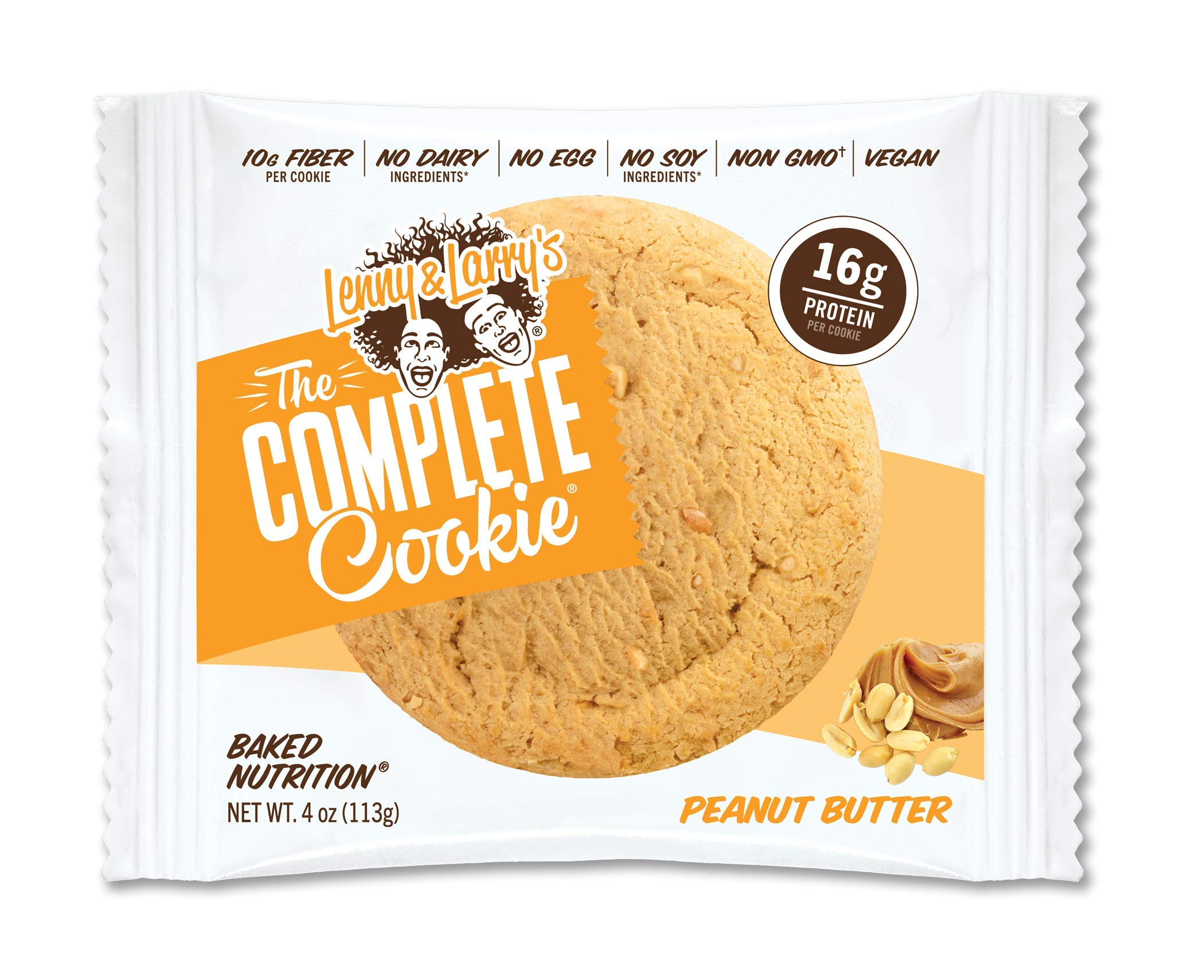 Lenny & Larry's Complete Cookie 4 oz Pack of 12 Case of 6 (Peanut Butter)