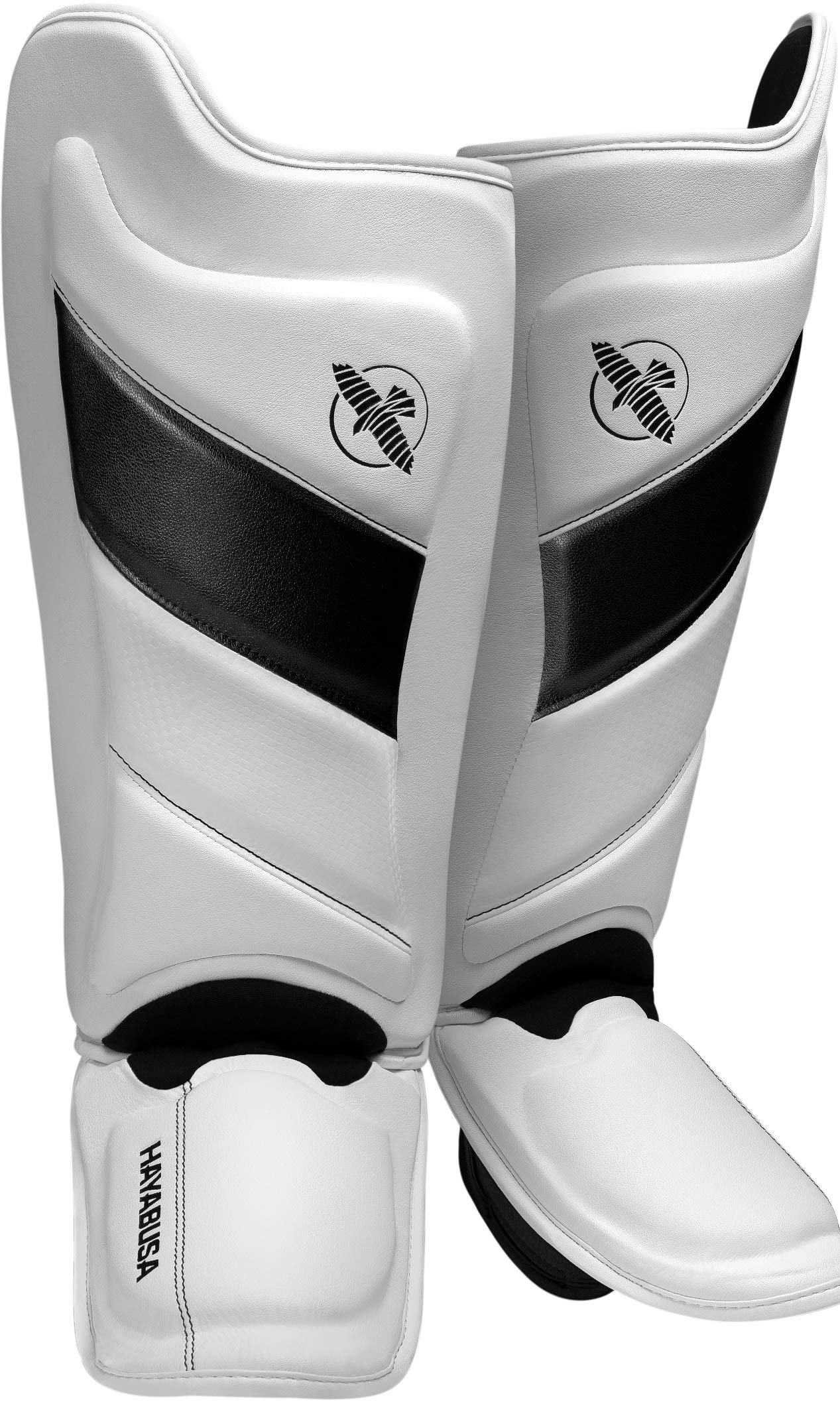Hayabusa Shin Guards | T3 Muay Thai and Kickboxing | Men and Women | White/Black | Large by Hayabusa