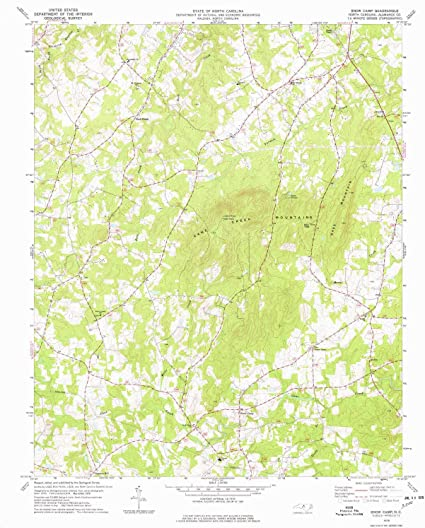 snow camp nc map Amazon Com Yellowmaps Snow Camp Nc Topo Map 1 24000 Scale 7 5