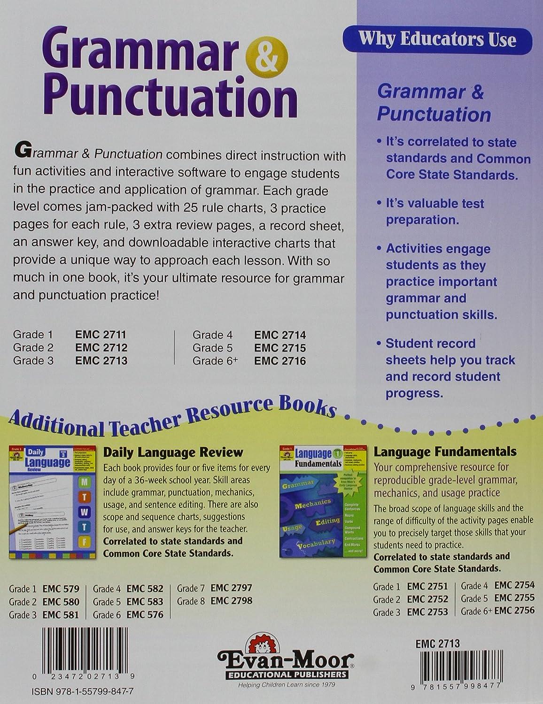 Workbooks grammar and punctuation workbook : Amazon.com: Grammar and Punctuation, Grade 3 (9781557998477): Evan ...