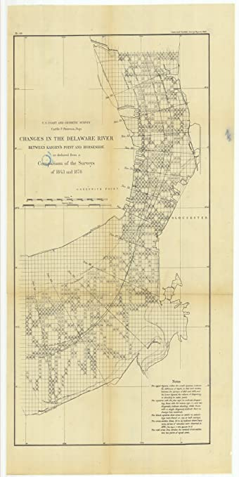 Amazon.com: Vintography 8 x 12 inch 1880 US Old Nautical map Drawing ...