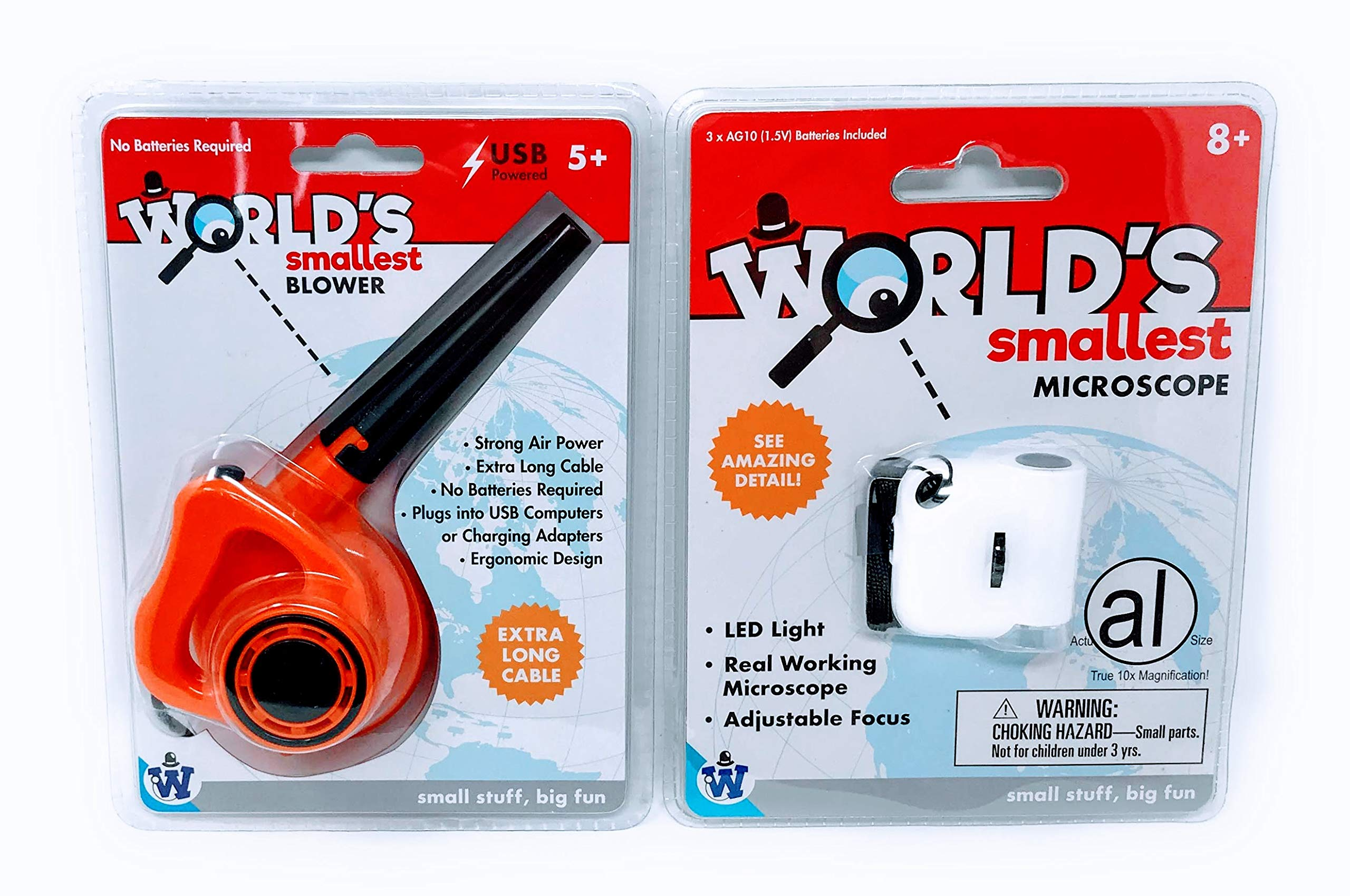 World's Smallest Air Blower Bundled with World's Smallest Microscope