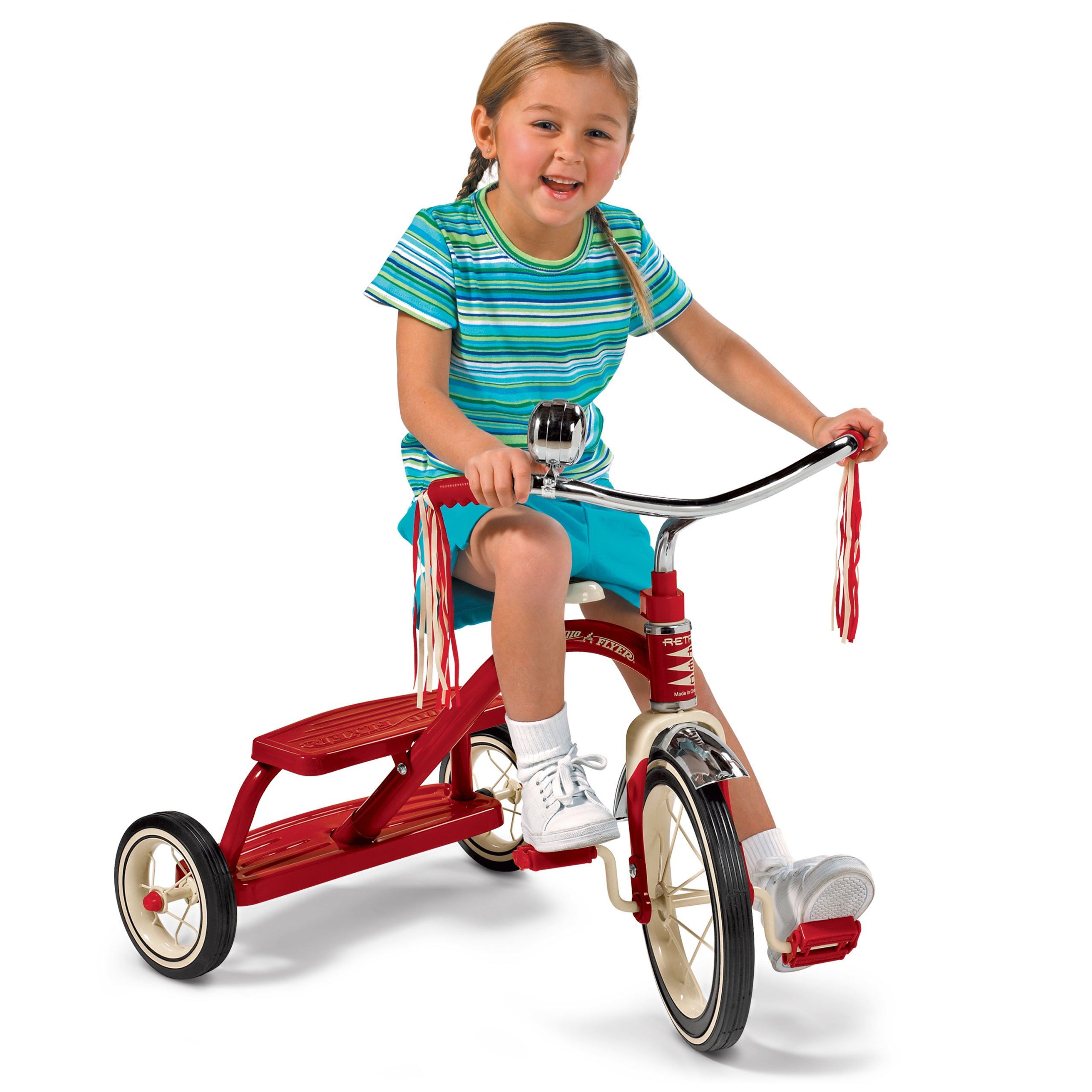 Radio Flyer Classic Red Dual Deck Tricycle by Radio Flyer (Image #5)
