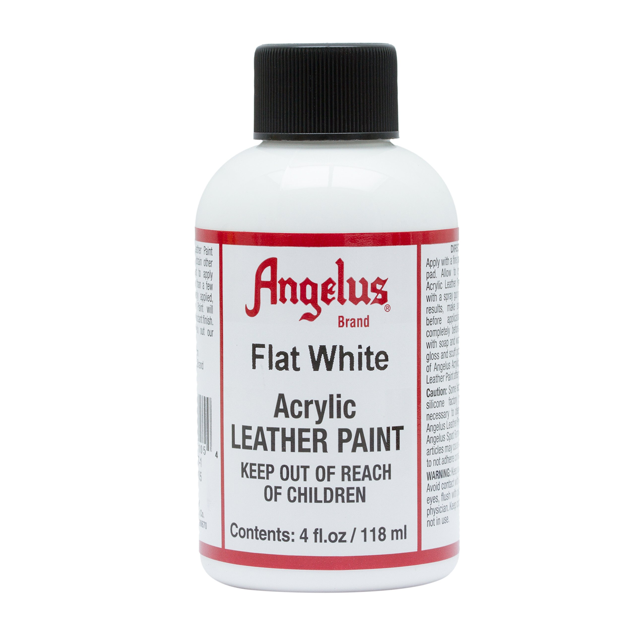 Angelus Brand Acrylic Leather Paint Waterproof 4oz - Flat White