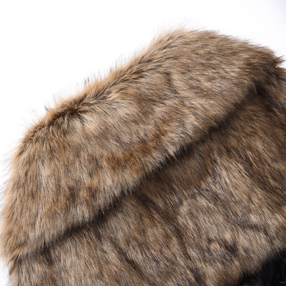 Piel de Vis/ón 140cm *27cm Piel Seasaleshop Chal Estola Piel Estola de Invierno Chal para Mujer para Fiesta Bodas Piel Sint/ética