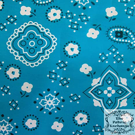 F.E. Stars on Blue Poly Cotton 60 Inch Fabric by The Yard
