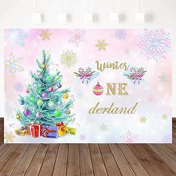 Amazon.com: Mehofoto - Fondo de invierno para decoración de ...