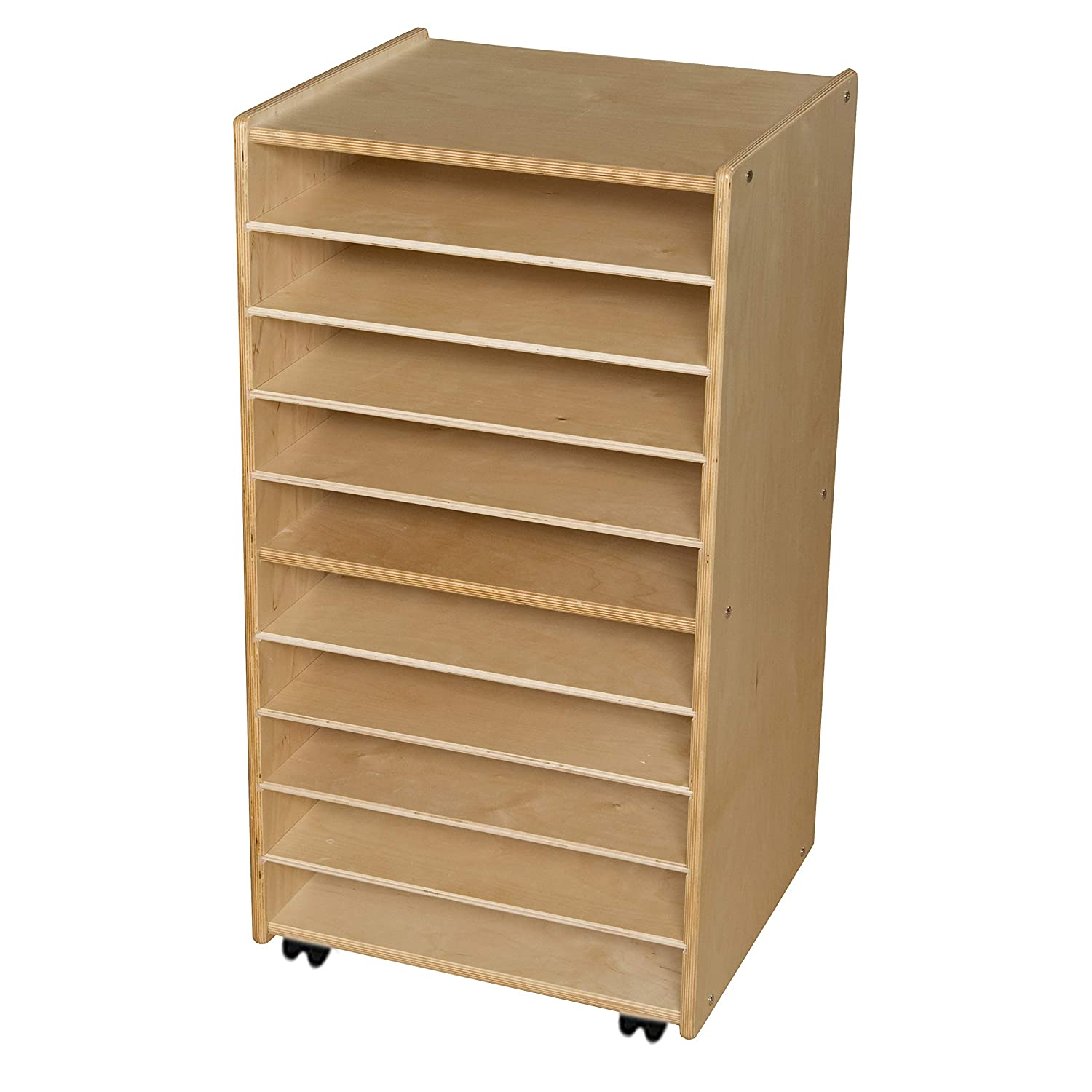 Image of Cubbies Contender Paper and Puzzle Storage Center - Assembled
