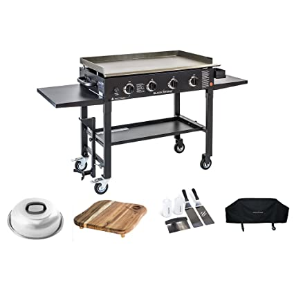 cb02f2e7bd6 Amazon.com  Blackstone 36 inch Outdoor Flat Top Gas Grill Griddle Station  Deluxe Bundle 4-burner Grill