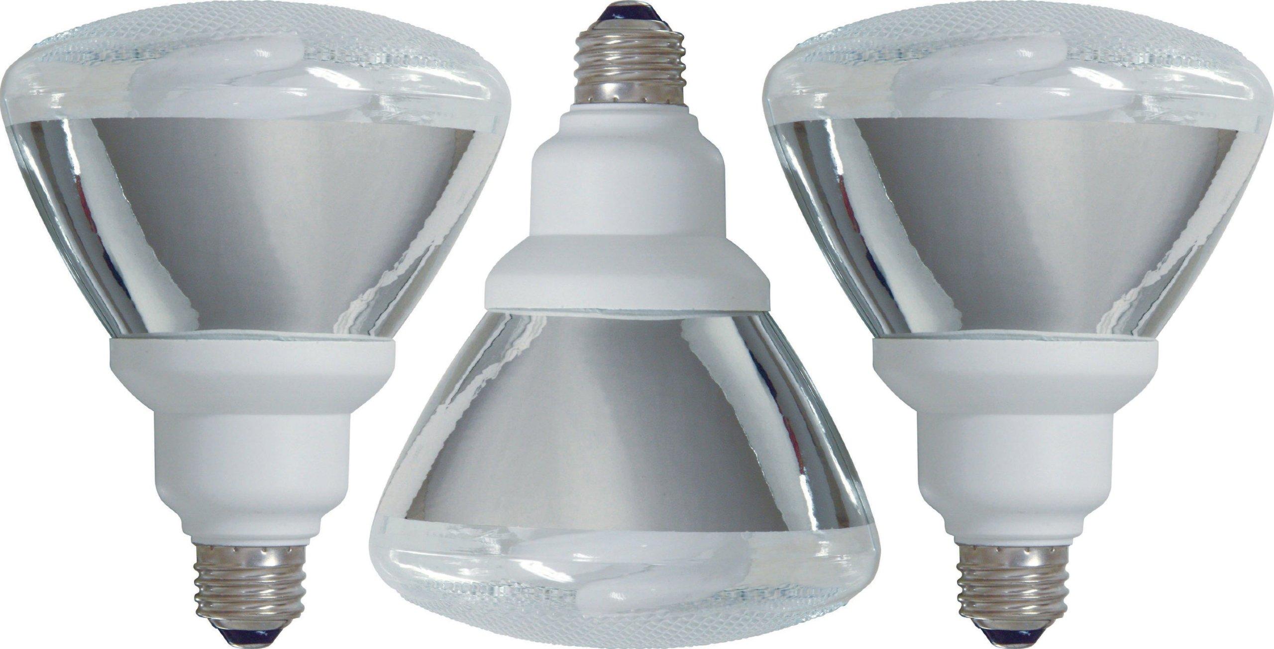 GE Lighting 47483 Energy Smart CFL 26-Watt (100-watt replacement) 1300-Lumen PAR38 Floodlight Bulb with Medium Base, 3-Pack