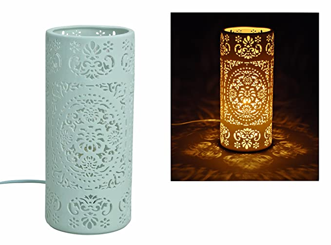Lámparas de mesa, románticas discontinuidades, porcelana ...