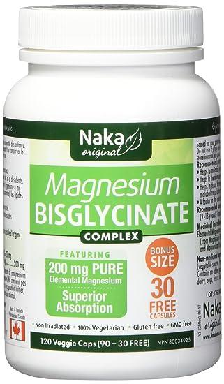 Amazon.com: Naka bisglycinate de magnesio, 120 Cápsulas ...