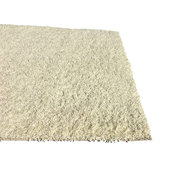 amazoncom soft shag area rug 5x7 plain solid color ivory area rugs for living room bedroom