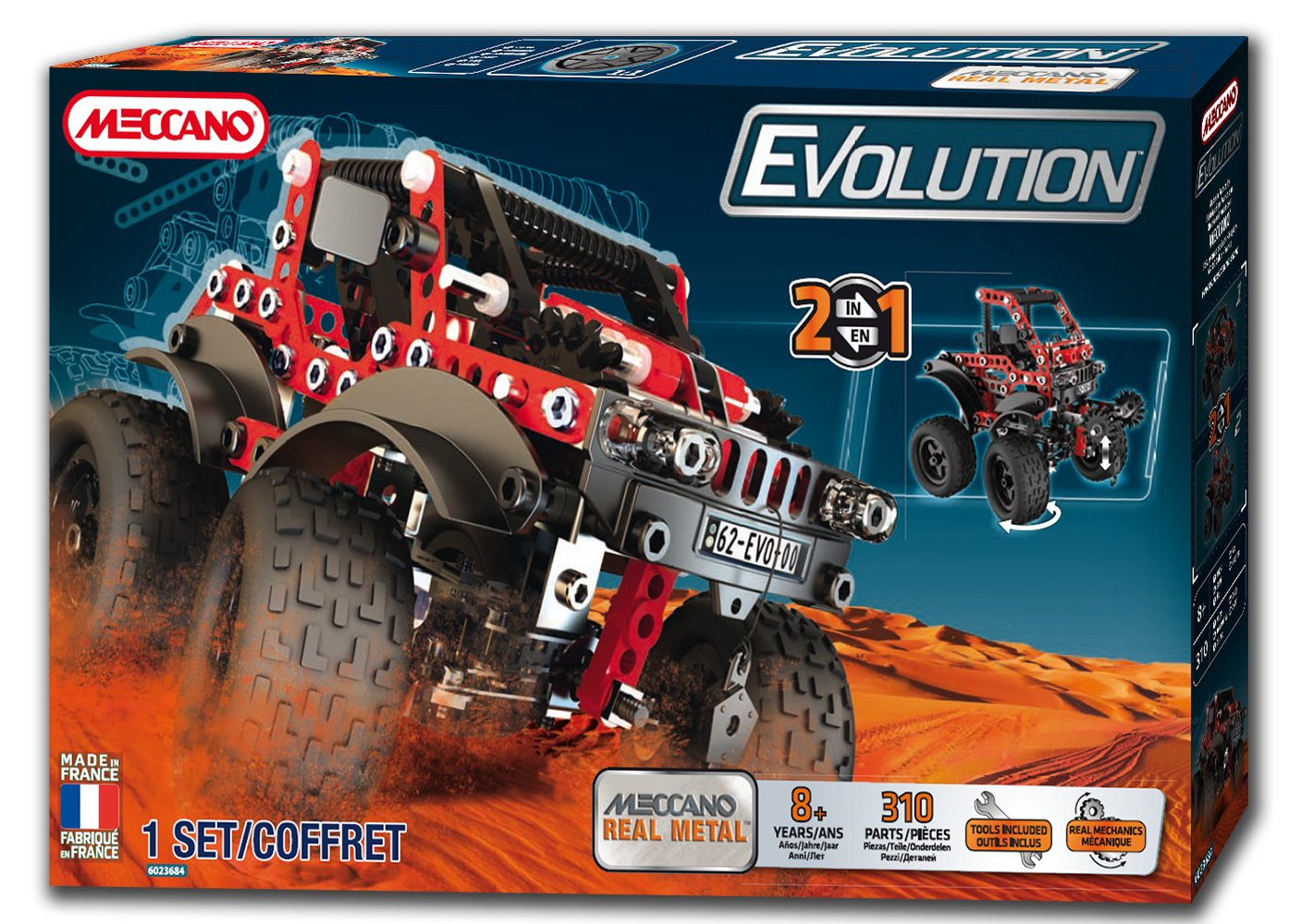 Meccano Evolution 4 x 4, Baukasten, ROT (Bizak 61921669)
