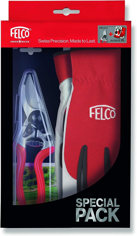 Felco 8 S/écateur Ergonomique avec Gants M-L