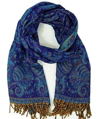 59d50ff65402c6 Guru-Shop Weicher Pashmina Schal/Stola mit Paisley Muster, Herren/Damen,
