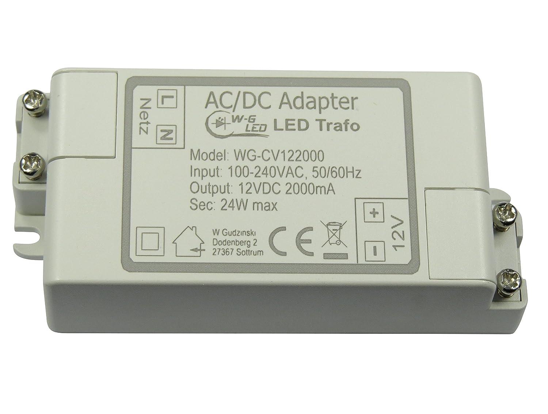 LED-TRAFO 12V-DC 24W max. Transformator-Netzteil 2A W-G LED