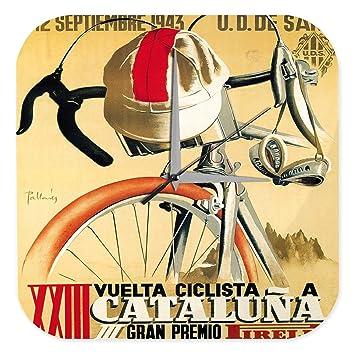 Reloj De Pared Nostálgico Ciclista Cataluña 1943 Plexiglas Impreso: Amazon.es: Hogar