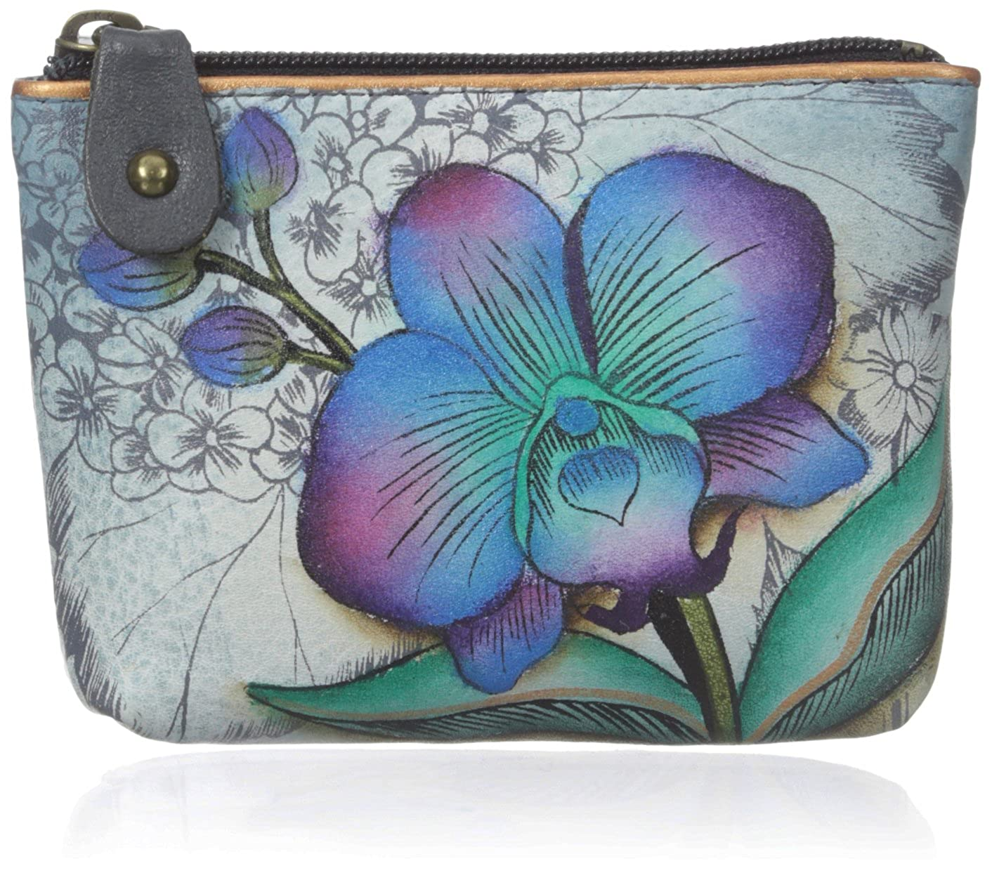 Anuschka Women's Leather Coin Purse | Genuine Soft Leather, Hand-painted Original Art Blb One Size 1031-LTHR