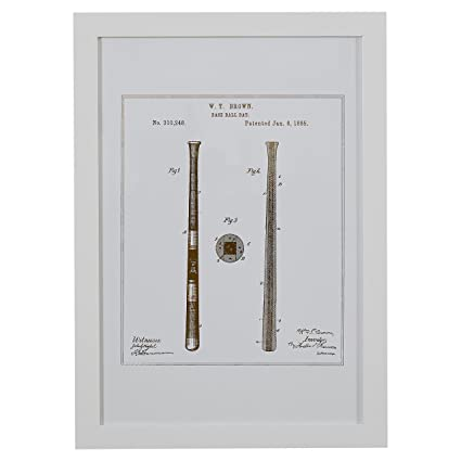 Amazon.com: Stone & Beam Modern Gold Print of 1885 Baseball Bat ...