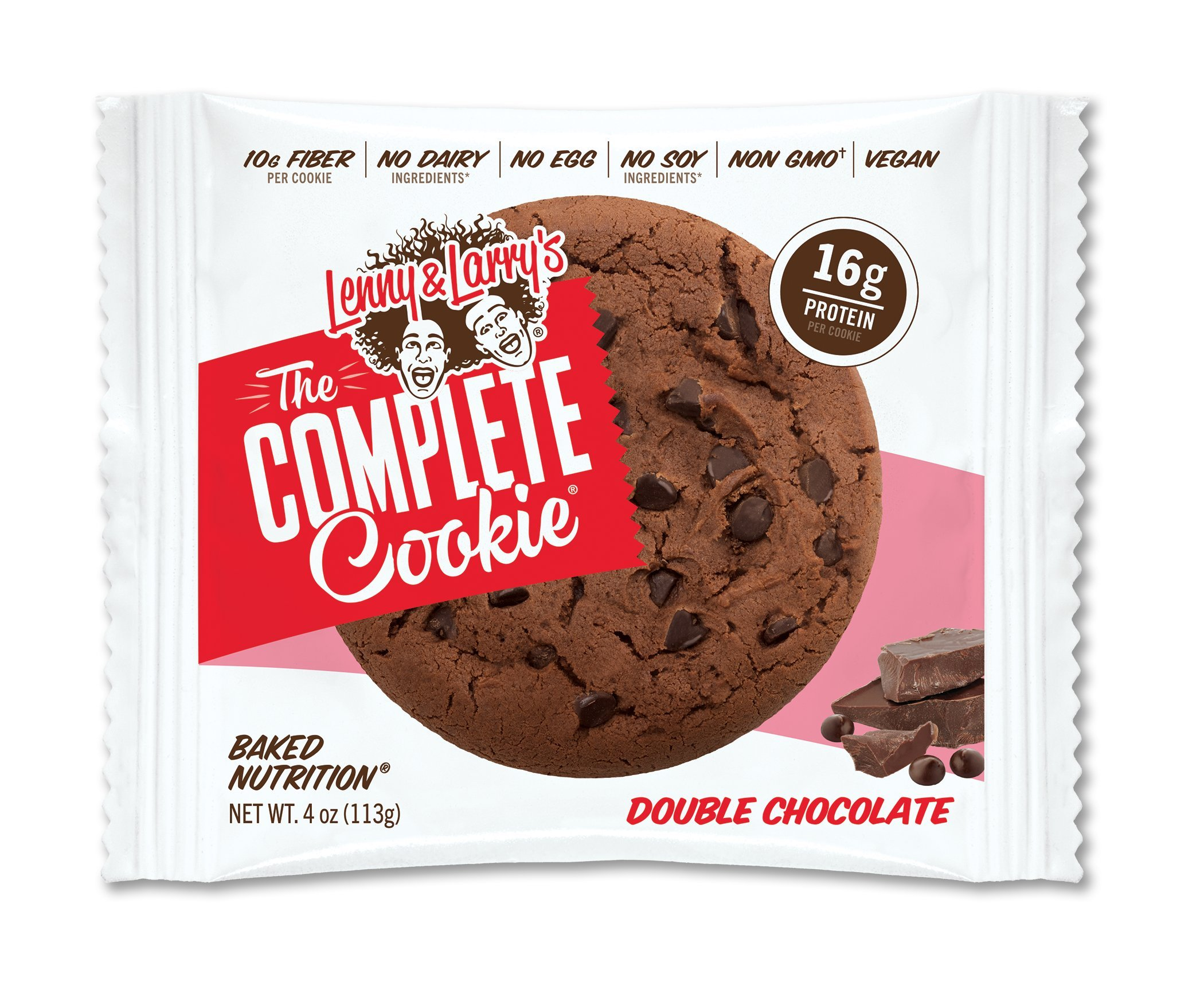 Lenny & Larry's Complete Cookie 4 oz Pack of 12 Case of 6 (Double Chocolate)