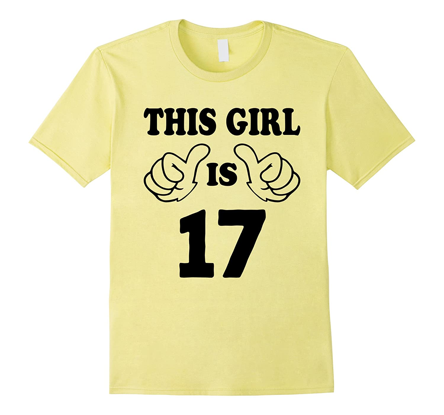 This Girl is seventeen 17 Years Old 17th Birthday Gift Ideas-PL