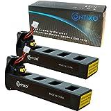Genuine Contixo Rechargeable LiPo Battery - 7.4V 2100mAh LiPo Battery for Contixo F18 Quadcopter Drone (2-Pack)