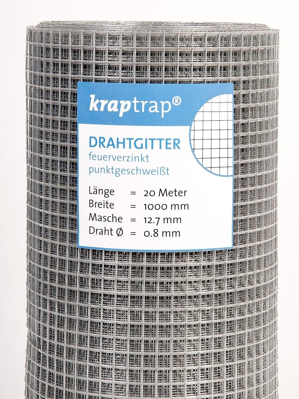 KrapTrap® Volierendraht, Drahtgitter, 12.7 mm Masche, 100 cm Breite ...