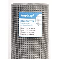 KrapTrap® Volierendraht, Drahtgitter, 12.7 mm Masche, 100 cm Breite, 20 m Länge Grundpreis 1,99 EUR/m