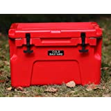 Brand New COLD BASTARD ICE CHEST BOX COOLER BEST PRICE YETI QUALITY Free s&h 25L (RED)