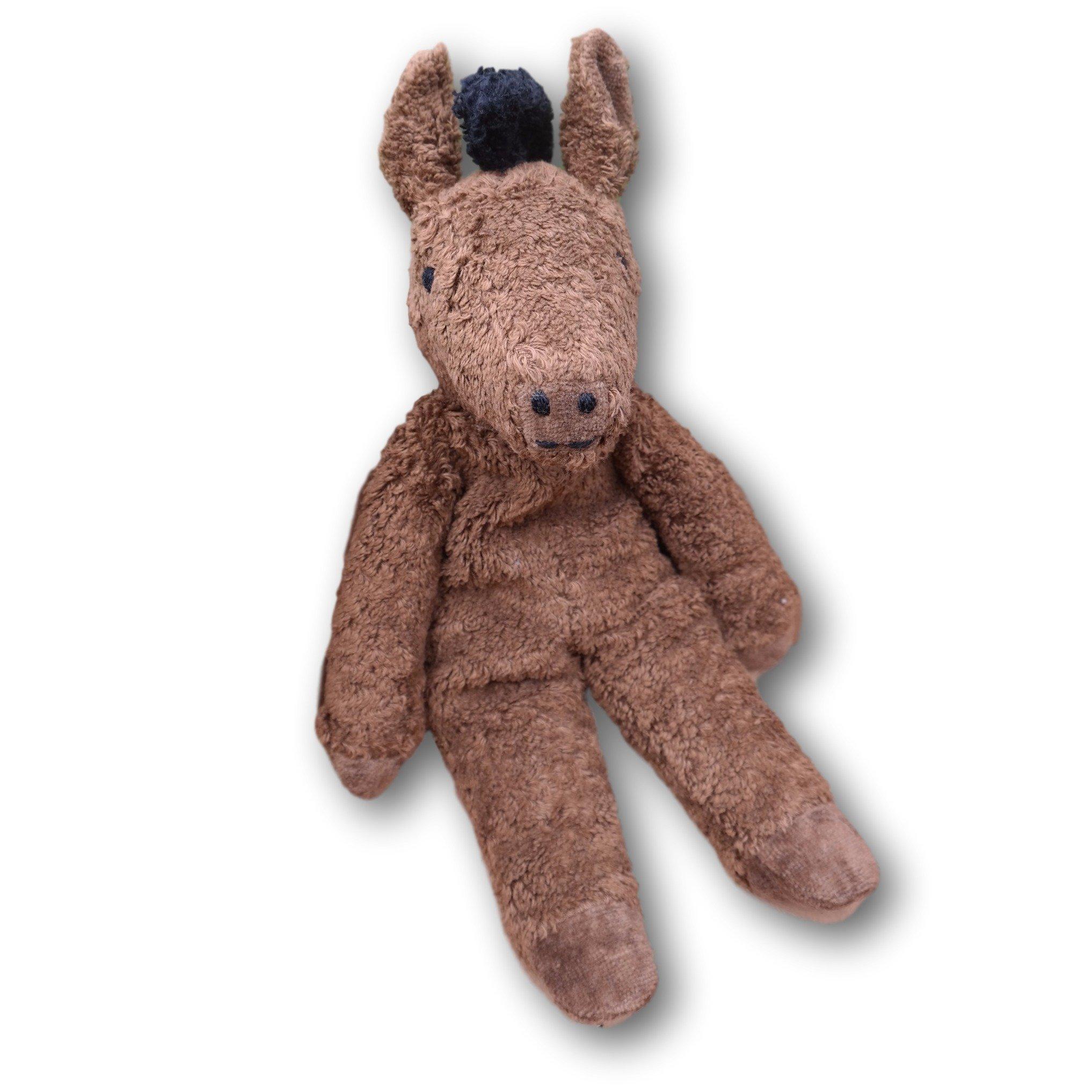 Senger Stuffed Animals - Organic Cotton Brown Horse 12'' by Senger Tierpuppen