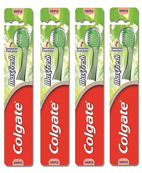 Cepillo de dientes Colgate MaxFresh Flexible - juego de 4