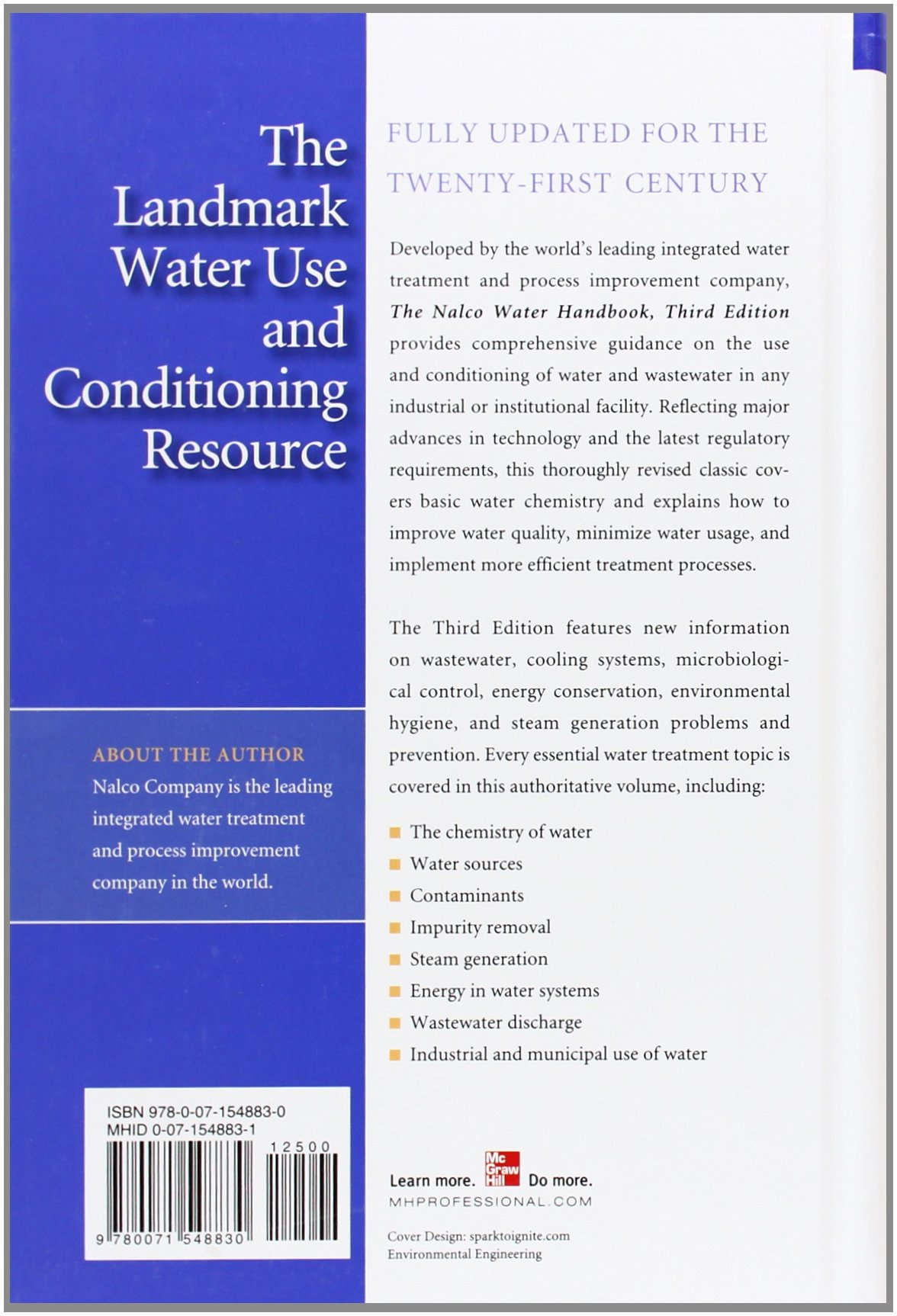 The Nalco Water Handbook, Third Edition: NALCO Chemical Company:  9780071548830: Books - Amazon.ca