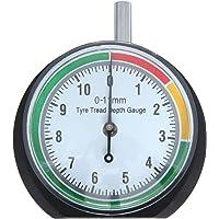 """VERGO Reifenprofilmesser - Tiefenmesser - Profiltiefenmesser - Messbereich 0-11 mm/0-0.43"""" - Klar 1,7""""(44mm) Zifferblatt - Einfach zu bedienen - PKW, LKW, SUV, Motorrad -Stoffsack inklusive"""