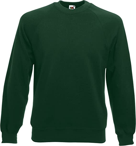 9ea471867182 Fruit of the Loom Herren Sweatshirt Raglan  Amazon.de  Bekleidung