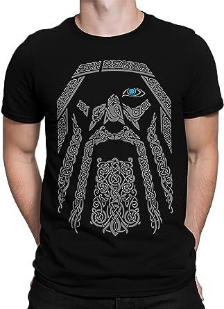 vanVerden Unisex T-Shirt XS-5XL Odin Wikinger Kopf Gott Valhalla Rising,  Größe