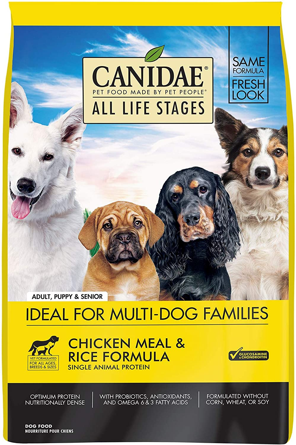 Canidae All Life Stages Dry Dog Food, Chicken Meal and Rice, 30lbs