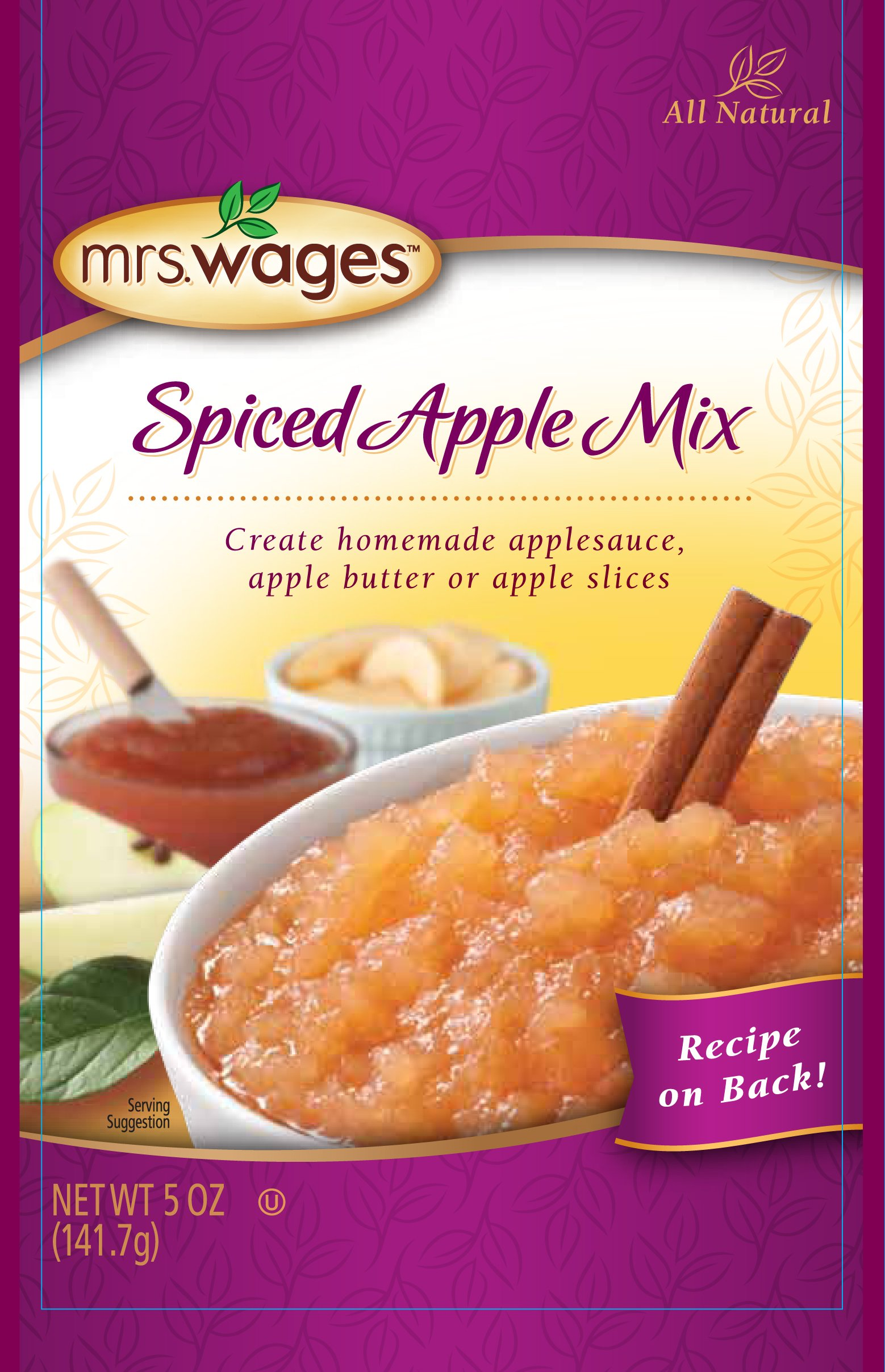 Mrs. Wages Sauce Mix, Spiced Apple, 5 Ounce (Pack of 12)