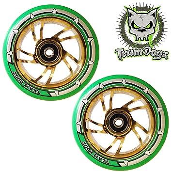 Team Dogz Ruedas de 100 mm para patinete (par), Core: Chrome ...